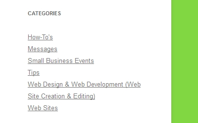 Small Business Blog Categories
