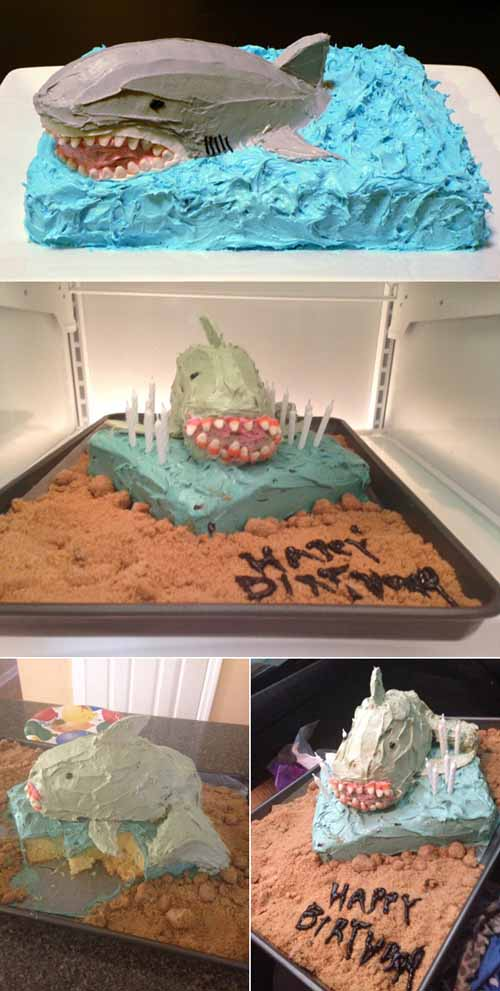Do It Yourself (DIY) Failure: Shark Cake